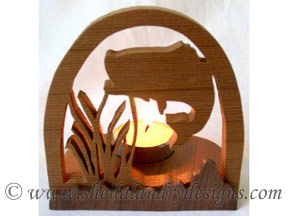 Scroll Saw Largemouth Bass Tealight Pattern
