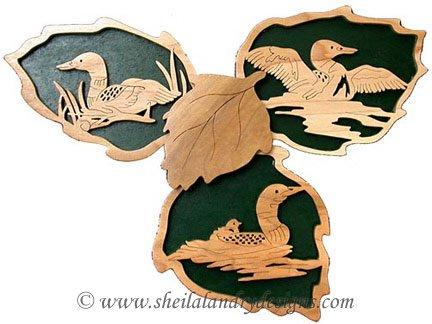 Scroll Saw Loons Wildlife Pattern