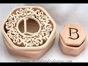 Scroll Saw Monogram Box