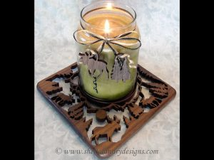 Scroll Saw Moose Candle Tray