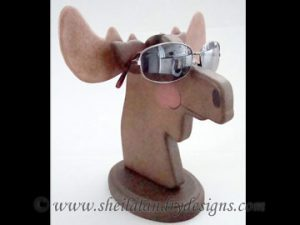 Scroll Saw Moose Eyeglass Holder