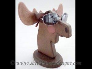 Scroll Saw Moose Eyeglass Holder