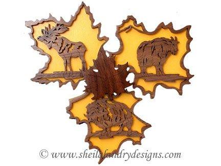 Scroll Saw Moose, Goat & Bison Pattern