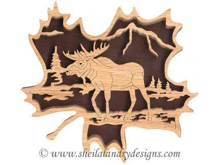 Scroll Saw Moose Pattern