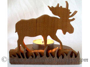Scroll Saw Moose Tealight Pattern