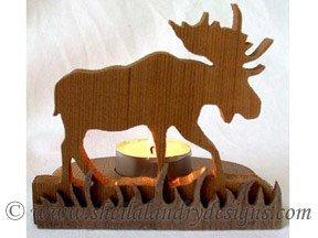 Scroll Saw Moose Tealight Pattern