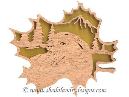 Scroll Saw Mountain Lion Pattern
