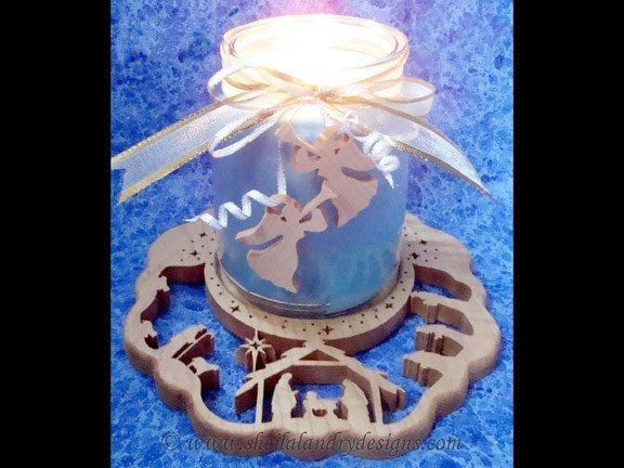 Scroll Saw Nativity Candle Tray