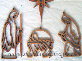 Scroll Saw Nativity Ornaments