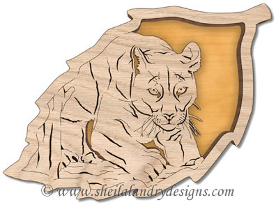 Scroll Saw North American Cougar Pattern