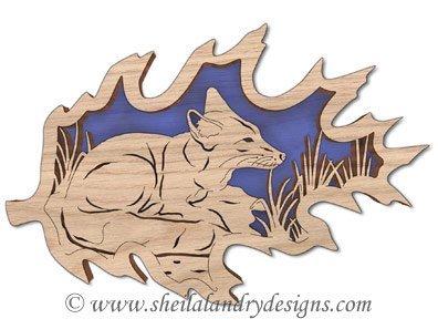 Scroll Saw Northern Swift Fox Pattern