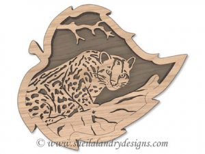 Scroll Saw Ocelot Pattern