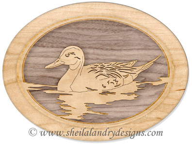 Scroll Saw PIntail Duck Pattern
