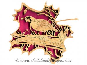 Scroll Saw Quail Pattern