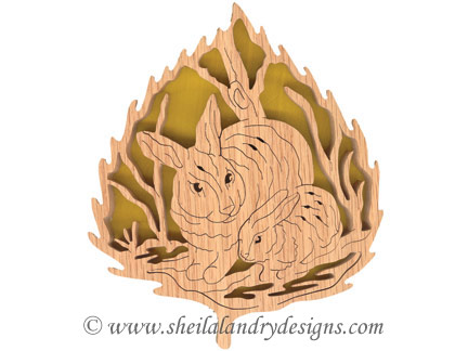 Scroll Saw Rabbit Pattern