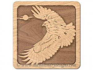 Scroll Saw Red-Tailed Hawk Pattern