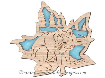 Scroll Saw Red Wolf Pattern