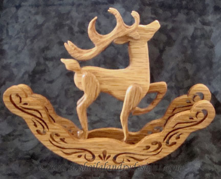 Scroll Saw Reindeer Ornament