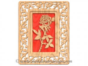 Scroll Saw Rose Pattern