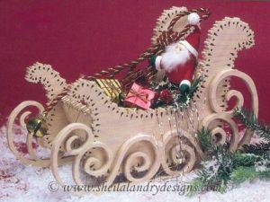 Scroll Saw Santa Sleigh Pattern