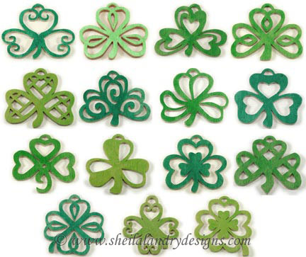 Scroll Saw Shamrock Ornaments Pattern