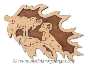 Scroll Saw Sierra Nevada Bighorn Pattern