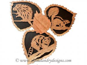 Scroll Saw Skunk, Raccoon & Porcupine Pattern