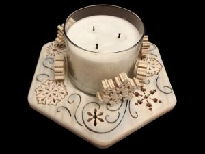 Scroll Saw Snowflake Candle Tray