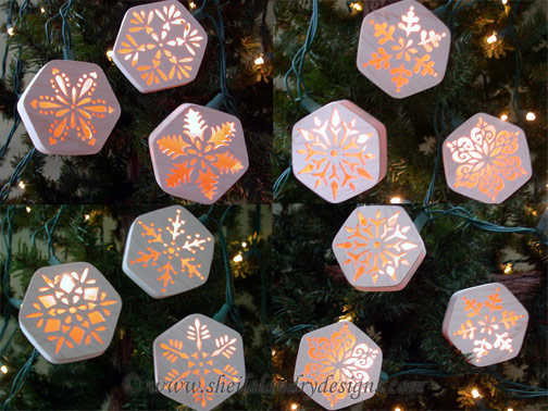 Scroll Saw Snowflake Light Covers