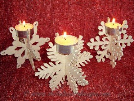 Scroll Saw Snowflake Tealight Holders