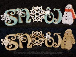 Scroll Saw Snowman Pattern