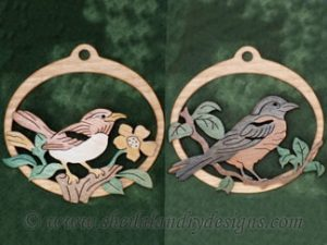 Scroll Saw Songbird Ornaments