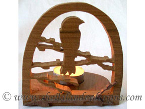 Scroll Saw Songbird Tealight Pattern