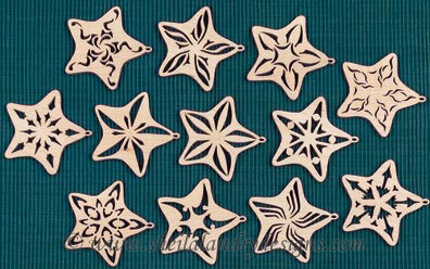 Scroll Saw Stars Pattern