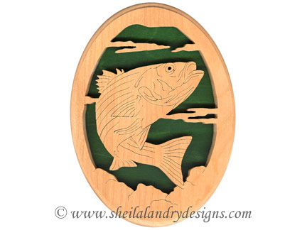 Scroll Saw Striped Bass