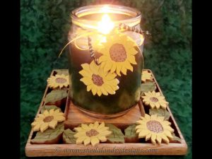 Scroll Saw Sunflower Candle Holder