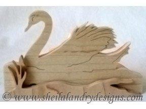 Scroll Saw Swan Tealight Pattern