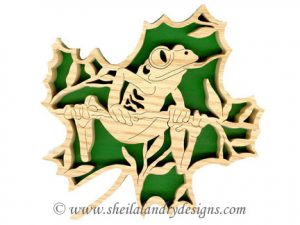Scroll Saw Tree Frog Pattern