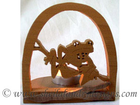 Scroll Saw Tree Frog Tealight Pattern