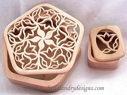 Scroll Saw Tulip Box