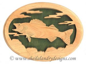 Scroll Saw Walleye Pike Fish Pattern