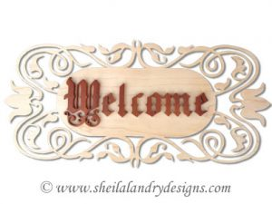 Scroll Saw Welcome Sign Pattern