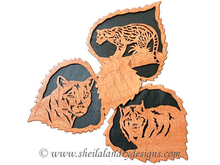 Scroll Saw Lynx, Cougar & Ocelot Pattern