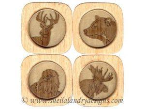 Scroll Saw Wildlife Coasters Pattern