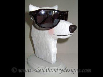 Scroll Saw Wolf Eyeglass Holder