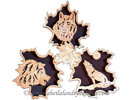 Scroll Saw Wolves Wildlife Pattern