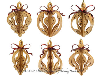 Slotted Scroll Saw Ornaments