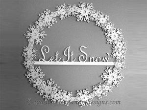 Snowflake Scroll Saw Wreath Pattern