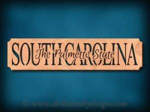 South Carolina - The Palmetto State Scroll Saw Pattern