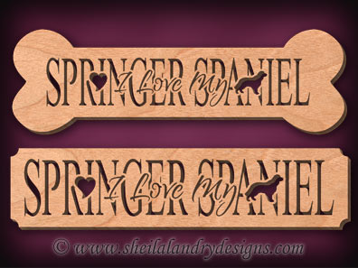 Springer Spaniel Scroll Saw Pattern
